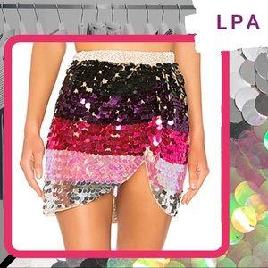 🐰 NWOT LPA Payette Sequin Draped Mini Skirt